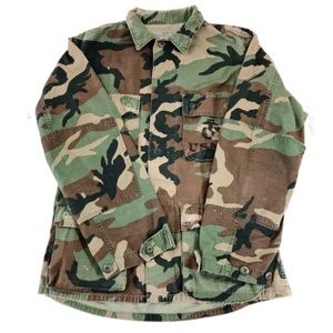 Other - Military Distressed Camouflage Jacket, Size S